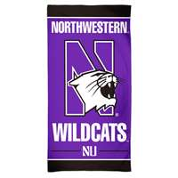 Northwestern Wildcats Spectra Beach Towel