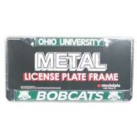 Ohio Bobcats Metal License Plate Frame w/Domed Insert