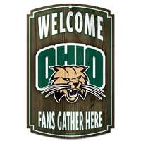 Ohio Bobcats Wood Sign