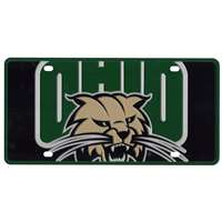 Ohio Bobcats Full Color Mega Inlay License Plate