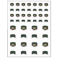 Ohio Bobcats Small Sticker Sheet - 2 Sheets