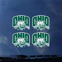 Ohio Bobcats Transfer Decals - Set of 4