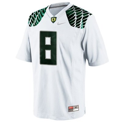 premium selection 7dea6 12742 Nike Oregon Ducks Youth/Preschool Replica Football Gameday Jersey - White  #8 Wings