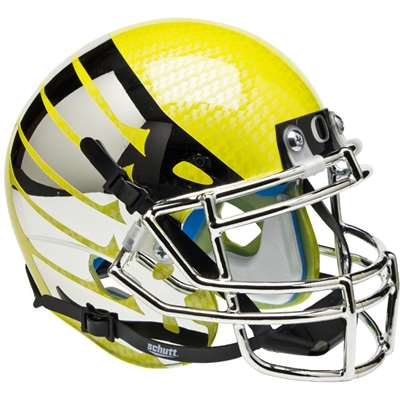 Oregon Ducks Mini Helmet by Schutt - Liquid Yellow w/ Wings
