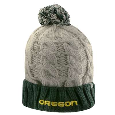 4f32a4295412c Oregon Ducks Top of the World Womens Gust Pom Knit Beanie