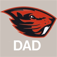 Oregon State Beavers Transfer Decal - Dad