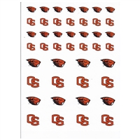 Oregon State Beavers Small Sticker Sheet - 2 Sheets