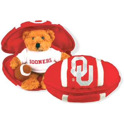 Oklahoma Sooners Stuffed Bear in a Ball - Football