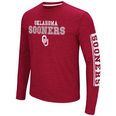 Oklahoma Sooners Colosseum Sky Box L/S T-Shirt - Straight Print