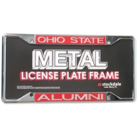 Ohio State Buckeyes Metal Inlaid Acrylic License Plate Frame