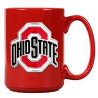 Ohio State Buckeyes 15oz Red Ceramic Mug