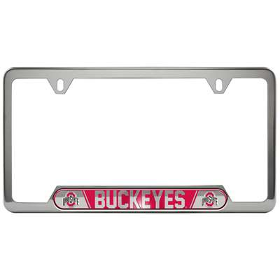 Ohio State Buckeyes Colored Metal License Plate Frame