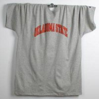 Oklahoma State T-shirt By Champion - Two Color Logo - Oxford