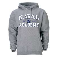 Navy Midshipmen Heritage Hoodie - Heather Grey