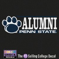 Penn State Nittany Lions Decal - Paw W/ Alumni Over Penn State