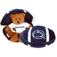 Penn State Nittany Lions Stuffed Bear in a Ball - Football