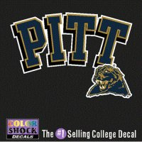 Pittsburgh Panthers Decal - Pitt Over Mascot