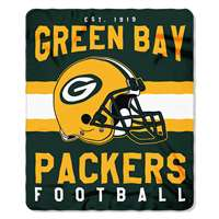 Green Bay Packers Singular Fleece Throw Blanket