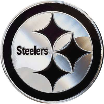 Pittsburgh Steelers Chrome Auto Emblem