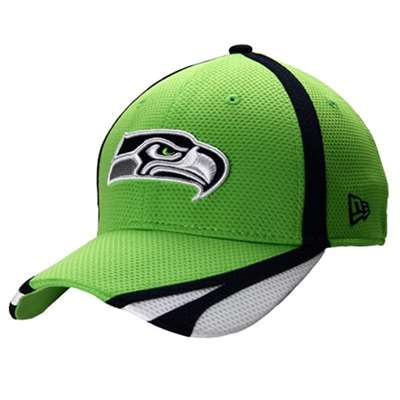 timeless design 44846 12fd2 Seattle Seahawks New Era 39Thirty Team Training Hat - Neon