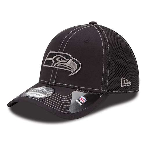 818a11e29 Seattle Seahawks New Era 39Thirty Neo Hat - Black