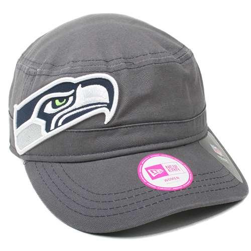 Seattle Seahawks New Era Ladies Chic Cadet Military Hat
