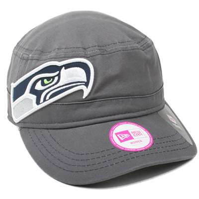 Seattle Seahawks New Era Ladies Chic Cadet Military Hat