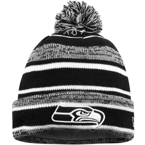 6a4fcfe8b1f Seattle Seahawks New Era On Field NFL Sport Knit Beanie - Black ...