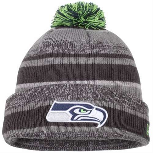 d9e3d2bffd8 Seattle Seahawks New Era On Field NFL Sport Knit Beanie - Grey