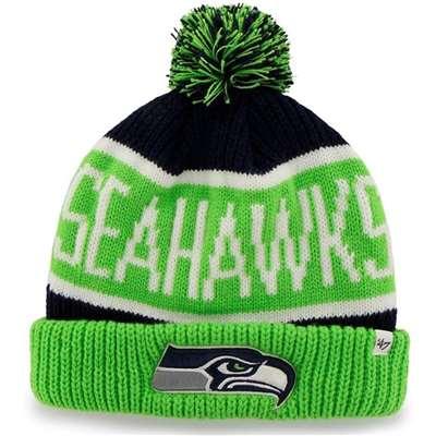e69c9314df8 Seattle Seahawks  47 Brand NFL Calgary Cuff Knit Beanie - Navy Lime