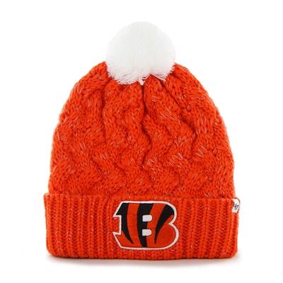 9521768e Cincinnati Bengals 47 Brand Womens NFL Fiona Cuff Knit Beanie