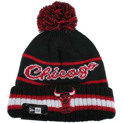 328f518e Chicago Bulls New Era Vintage Select Pom Knit Beanie