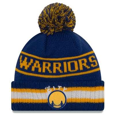 Golden State Warriors New Era Vintage Select Pom Knit Beanie