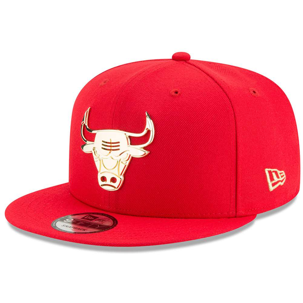 promo code 4a958 89ca2 Chicago Bulls New Era 9Fifty Metal Framed Snapback Hat