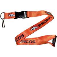 Denver Broncos Logo Lanyard - Orange