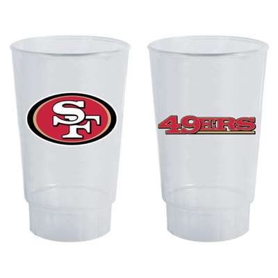 San Francisco 49ers Plastic Tailgate Cups - Set of 4