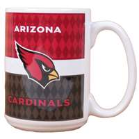 Arizona Cardinals 15oz White Stripe Coffee Mug