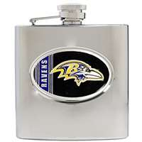 Baltimore Ravens Stainless Steel Hip Flask