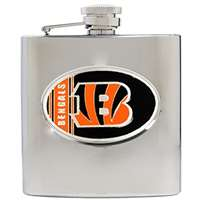 Cincinnati Bengals Stainless Steel Hip Flask