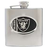 Oakland Raiders Stainless Steel Hip Flask