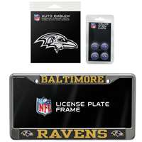 Baltimore Ravens 3 Piece Automotive Fan Kit