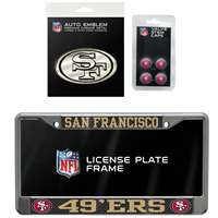 San Francisco 49ers 3 Piece Automotive Fan Kit
