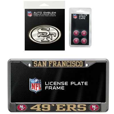d00cdbbb576 San Francisco 49ers 3 Piece Automotive Fan Kit