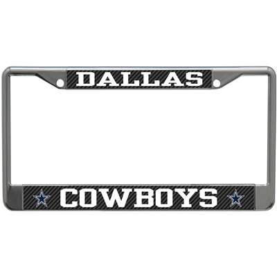 Dallas Cowboys Metal License Plate Frame Carbon Fiber