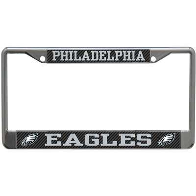 Philadelphia Eagles Metal License Plate Frame Carbon Fiber