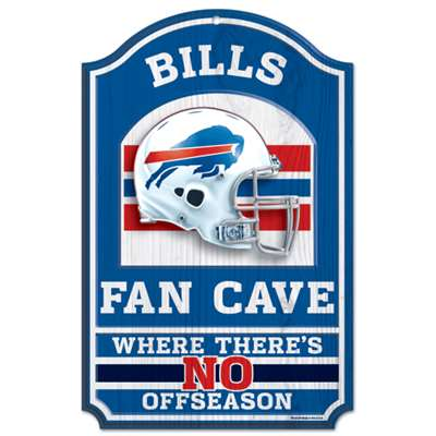 Buffalo Bills Fan Cave Wood Sign