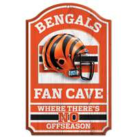 Cincinnati Bengals Fan Cave Wood Sign