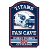 Tennessee Titans Fan Cave Wood Sign