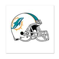 Miami Dolphins Temporary Tattoo - 4 Pack