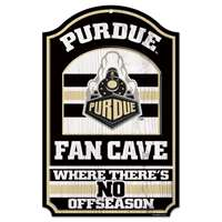 Purdue Boilermakers Fan Cave Wood Sign